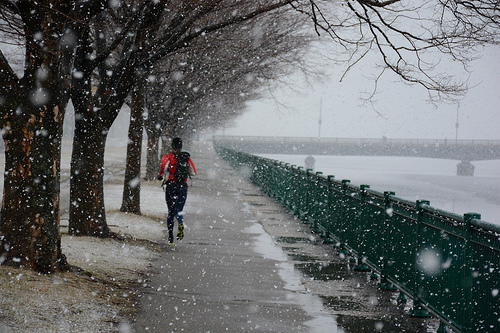 Running along the snowy Charles River in Cambridge_2014-01-18_by Bill Damon