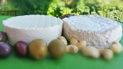 Gourmet dairy-free cheeses: Kite Hill Soft Fresh Original and Soft Ripened.